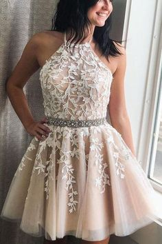 Let's check it out, Pretty A-lin Princess Lace Tulle Short Homecoming Dresses For Teens for your inspiration. You can wear this short prom dress to your party, which do make you the most stunning girl. Fit comfortably and looked so gorgeous. Light Pink Bridesmaid Dresses, Simple Homecoming Dresses, Hoco Dresses, Simple Dresses, Elegant Dresses, Sexy Dresses, Summer Dresses, Wedding Dresses, Casual Dresses