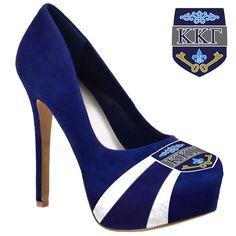 Kappa Kappa Gamma Sorority High Heel Shoe Footwear Microsuede Pumps