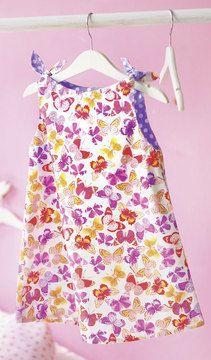 Mädchenkleid mit geknoteten Trägern - Nähanleitung und Schnittmuster via Makerist.de