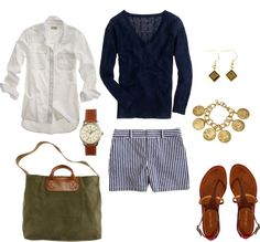 """""""Navy and Olive"""" by bluehydrangea on Polyvore"""