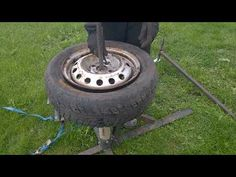 Manual tire changer - YouTube