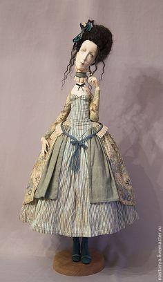 """Купить Авторская кукла """"Мушка"""" - голубой, дорогой подарок, авторская кукла, кукла, интерьер"""