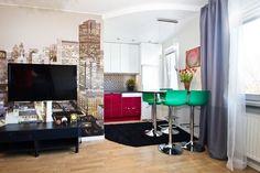 Piros fehér konyha, praktikus kis galéria, poszter tapéta - 33nm-es kis lakás