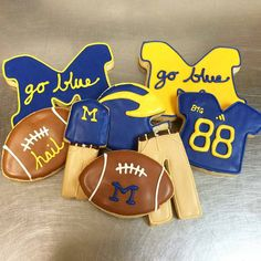 Because no gameday would be complete without khaki cookies. #GoBlue