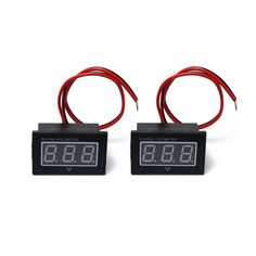 0.4 Inch Waterproof Red Blue LED Light Panel Digital Volt Meterr Tester With Reverse Protection
