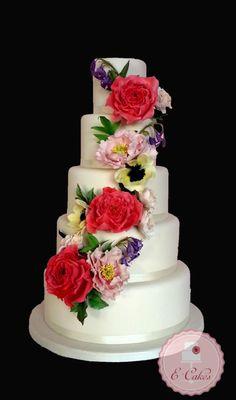 Flowers - Cake by Ecakessevilla