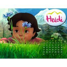Juli: Heidi Hintergrundbild für deinen Computer, Tablet oder Handy für den Juli. Die aktuellsten Hintergrundbilder deiner Helden findest du immer hier: http://studio100.de/fur-zu-hause/fur-den-computer/ #Hintergrundbild #Wallpaper #Heidi #Juli #Kalender