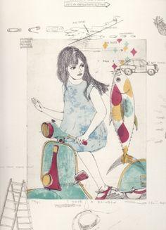 Gravures & Estampes | Atsuko Ishii | I have a rainbow | Tirage d'art en série limitée sur L'oeil ouvert Art Life, Art Graphique, Arts, Rainbow, Logo, Artwork, Anime, Etchings, Prints