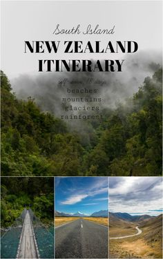New Zealand Itinerary with Interactive Map via @theforkedspoon #newzealand #travel #roadtrip #auckland #queenstown #southisland
