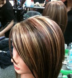 I love these colors for fall! #highlights #lowlights