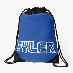 'Gamer name Tyler' Drawstring Bag by el-patron Backpack Bags, Drawstring Backpack, Gamer Names, Games To Buy, Woven Fabric, Backpacks, Classic, Derby