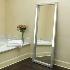 bathroom mirror with light around it