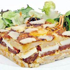 Rakott krumpli füstölt scamorzával Hungarian Recipes, Lidl, Sandwiches, Lunch, Dishes, Child Care, Food, Eat Lunch, Tablewares