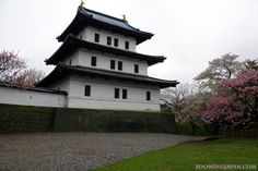 """Japanese castles I've visited: #58 Matsumae Castle in Hokkaido. Pretty much the only """"real"""" Japanese castle left in Hokkaido! Read more about it here in my blog: http://zoomingjapan.com/travel/matsumae-castle/"""