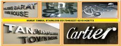 Pembuatan, Pengerjaan, Pemasangan,Huruf Timbul,Letter Emboss,Box, Advertising, Stainless,Kuningan, Garvanice,Neonbox, Acrylic 02151428773