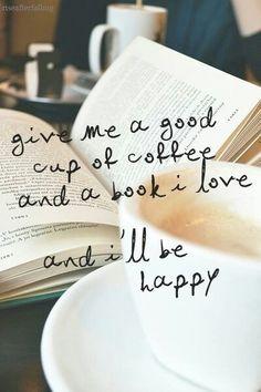 Coffee + book = :-)