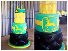 Amazing cake at a John Deere Farm Party via Kara's Party Ideas | KarasPartyIdeas.com