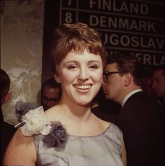 Grethe Ingmann (June 17, 1938 - August 18, 1990)  Danish singer (here at the Eurovision Song Contest 1963 which won the first place.