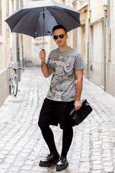 Choies Shirt, H&M Meggings, Tuk Creepers Mens Creepers, Tuk Creepers, Athletic Men, Athletic Outfits, Mens Leotard, Man Skirt, Mens Tights, Special Occasion Outfits, Mens Fashion
