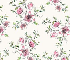 Orchard Blossom Pink print by Katy Hackney