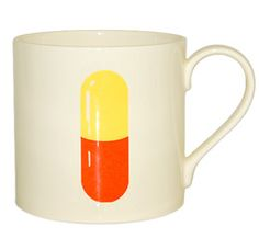 pill coffee mug. an appropriate graphic.