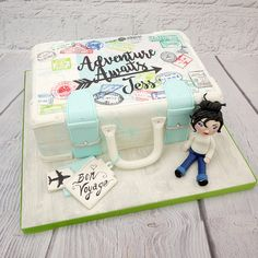 How To Make A Travelling Girl & Suitcase Cake
