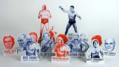 Presidential Wrestling Christmas Tree ornaments from Yee-Haw. Someone will really appreciate this.