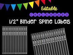 14 Best Binder Spine Labels Images Binder Spine Labels