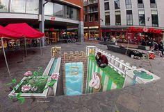 3D Street Art - 50 nieprawdopodobnych ulicznych dzieł sztuki