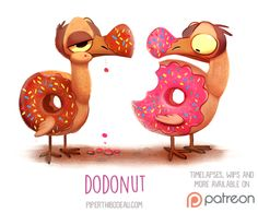 Daily Paint 1521. Dodonut by Cryptid-Creations Time-lapse, high-res and WIP sketches of my art available on Patreon (:Twitter • Facebook • Instagram • DeviantART