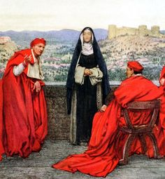 """St Catherine of Sienna (detail). From """"Eleanor Fortescue Brickdale's Golden Book of Famous Women"""" (1919)"""
