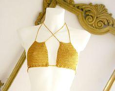 Shop stylish women's swimwear at FABKINI & find tankinis, bikinis, one-piece swimsuits, monokinis & more. Crochet Bikini Bottoms, Crochet Bikini Pattern, Lace Bikini, Bikini Beach, Crochet Shirt, Crochet Top, Yellow Bikini Set, Bikini Types, Tricot