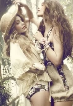 ruthayle:    Garden party - Julie Rode, Maria Palm Lyduch and Solveig Mørk Hansen by Signe Vilstrup