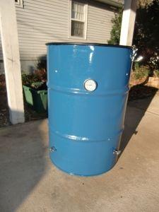 Turn a 55 gallon drum into a BBQ smoker