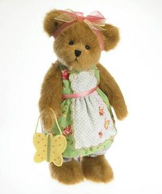 Look at this #zulilyfind! Meghan Lynn Flutterluv Plush Bear #zulilyfinds