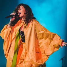 Rihanna performed at Rock In Rio wearing vintage Issey Miyake