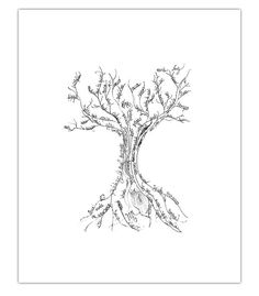Palabras del Alma (Words of the Soul) Hand Drawn Illustrated Tree Print