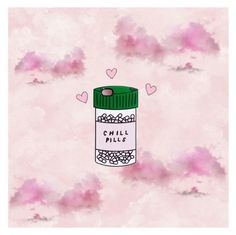 """Chill pills"" by oona-laajola on Polyvore featuring art"