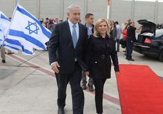 Binyamin and Sara Netanyahu leave for the US. Photo By: AVI OHAYON - GPO