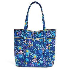 Women's Shoulder Bags - Vera Bradley Mickey and Minnie Mouse Disney Dreaming Tote Blue Multi * Details can be found by clicking on the image.