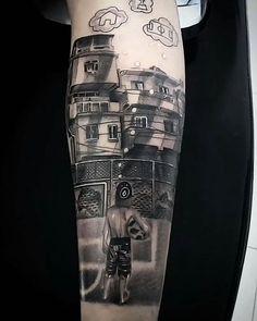 Minha versão, o sonho de um menino da favela #tattooblackandgrey #tattoorealistic #tattoofavela #thiagogoianotattoo #tattoobrusquesc | Artist: @thiagogoianotattoo