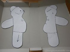 Free Memory Bear Pattern To Print - - Yahoo Image Search ResultsHomemade teddy bear - i wonder what this looks like in a non furry fabricIf you want to learn how to make your own teddy bear, there are many options open to you. Diy Teddy Bear, Small Teddy Bears, Knitted Teddy Bear, Crochet Teddy, Crochet Bear, Teddy Bear From Baby Sleeper, Teddy Bear Patterns Free, Teddy Bear Sewing Pattern, Teddy Bear Template