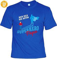 Familien/Papa/Sprüche/Spaß-Shirt/Fun-Shirt: Mein Held der Nation Superhero Papa tolles Geschenk/Geburtstag/Vatertag (*Partner-Link)