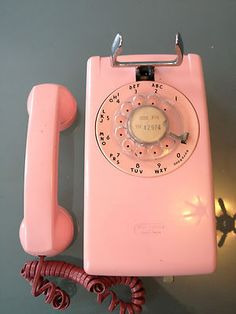 Working Vintage Pink Western Electric 554 Wall Rotary Phone Retro RARE Telephone | eBay