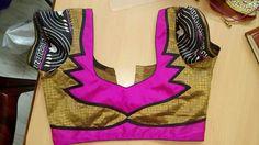 Blouse Neck Designs, Blouse Patterns, Blouse Styles, Fashion Blouses, Blouse Models, Cute Blouses, Blouse Outfit, Neck Pattern, Simple Designs