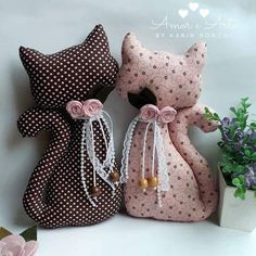 - basteln,nähen/handicraft work,sewing & co - Sewing Toys, Baby Sewing, Sewing Crafts, Sewing Projects, Sewing Clothes, Cat Crafts, Diy And Crafts, Crafts For Kids, Sewing Stuffed Animals