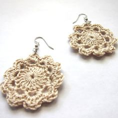 Or crochet smaller ones to make earrings. 34 Adorable Things To Do With Leftover Bits Of Yarn Crochet Earrings Pattern, Crochet Jewelry Patterns, Crochet Accessories, Knitting Patterns, Crochet Gifts, Crochet Yarn, Crochet Flowers, Crochet Doilies, Bijoux Diy