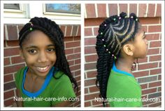 cornrow and two strand twist for little girls | How To Do Cornrows, Easy Cornrow Tutorial Hairstyle
