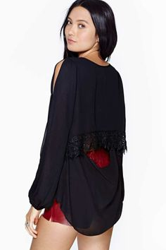 Dream Haze Top - Black