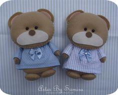 Ursinho de Pijama 13cm - Feltro